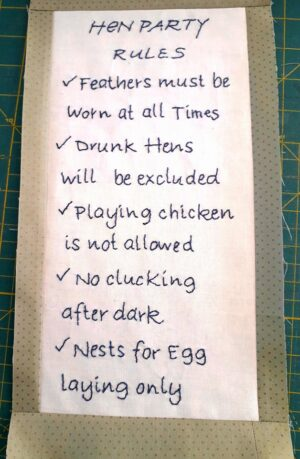 #7 Hen Party Rules