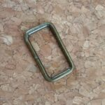 rectangle loops antique brass