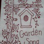 Garden Song Redwork Kit