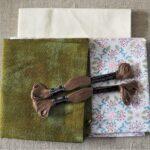 Grunge Floral Fabric tablerunner kit