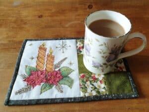 Festive Season Candles Mug Rugs